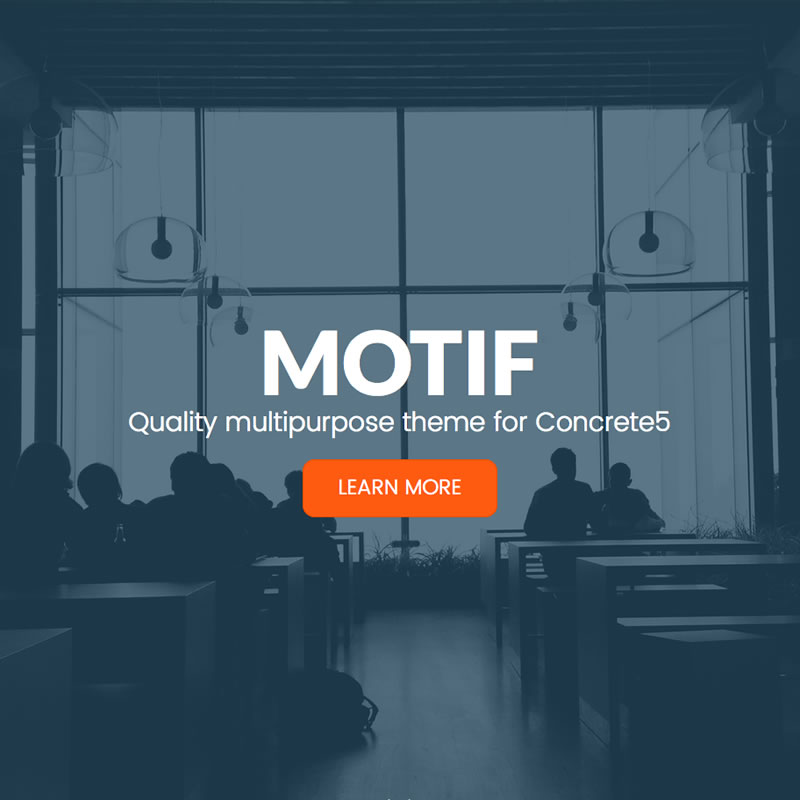 Motif - Multi-purpose theme for Concrete5